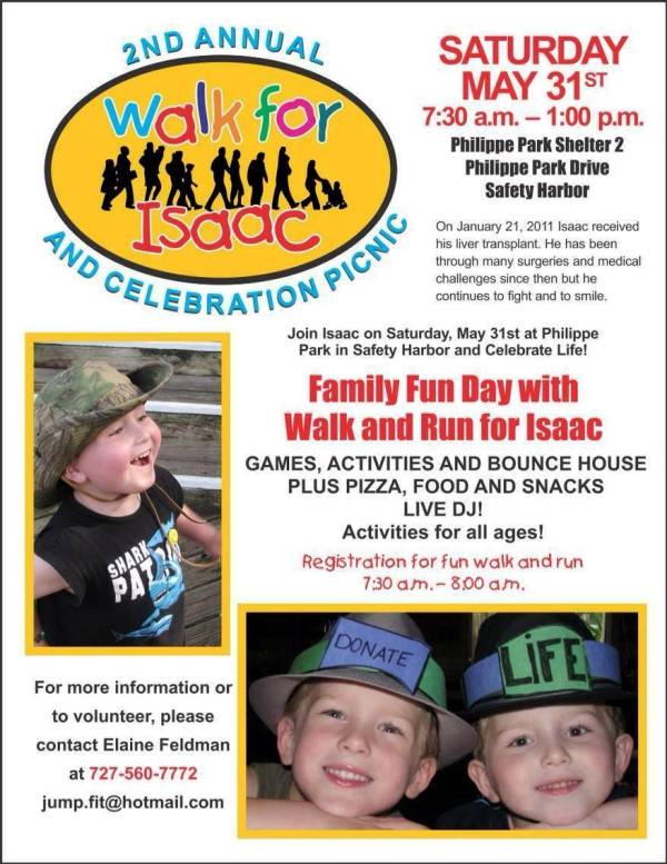 Walk and Run for Isaac